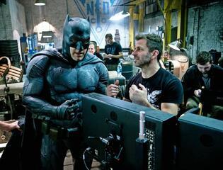 Ben Affleck und Zack Snyder auf dem Set von Batman v Superman: Dawn of Justice