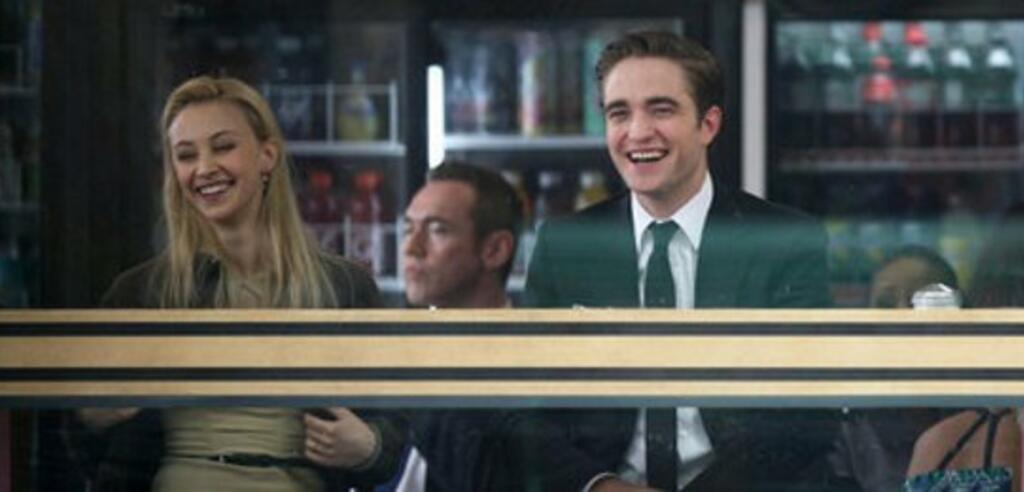 Robert Pattinson und Sarah Gadon am Set von Cosmopolis