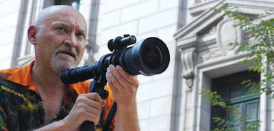 Frank Darabont am Set von The Walking Dead