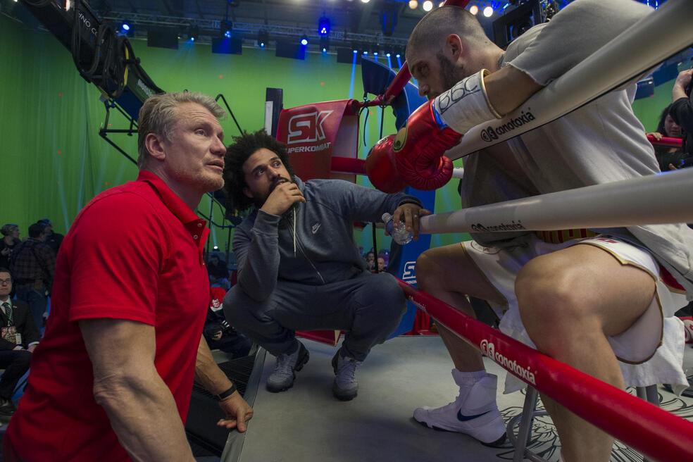 Creed II mit Dolph Lundgren, Steven Caple Jr. und Florian Munteanu
