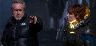 Ridley Scott am Set von Prometheus