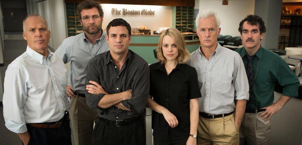 Michael Keaton, Liev Schreiber, Mark Ruffalo, Rachel MacAdams, John Slattery,Brian d'Arcy James