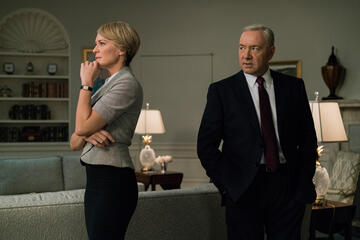 Robin Wright und Kevin Spacey in House of Cards