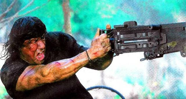 Da kann selbst ein John Rambo mal die Fassung verlieren...