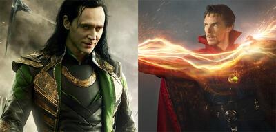 Loki (TomHiddleston) vs. Doctor Strange (Benedict Cumberbatch)