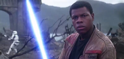 John Boyega in Star Wars 7