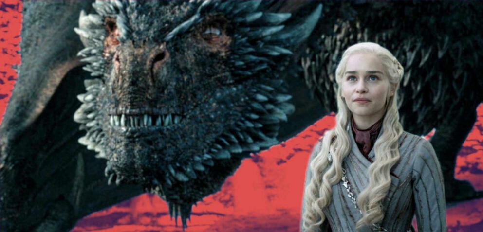 Daenerys Targaryen und ihr Drache Drogon in Game of Thrones