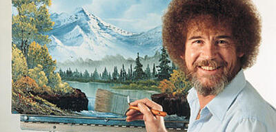 Bob Ross malt auf Twitch Creative