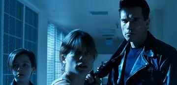 Edward Furlong, Linda Hamilton und Arnold Schwarzenegger in Terminator 2
