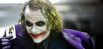 Heath Ledger als der Joker in The Dark Knight