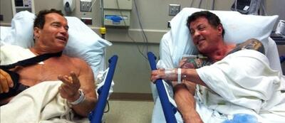 Wahre Freundschaft: Arnold Schwarzenegger und Sylvester Stallone