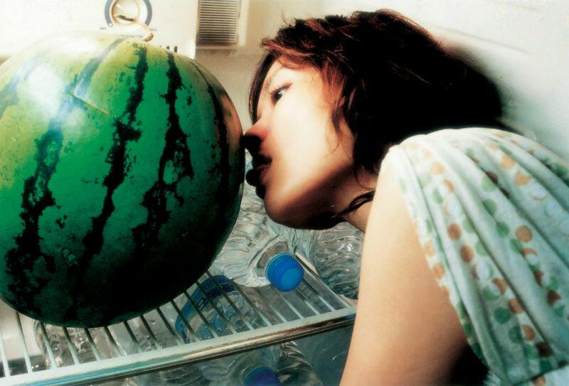 Das Fleisch der Wassermelone