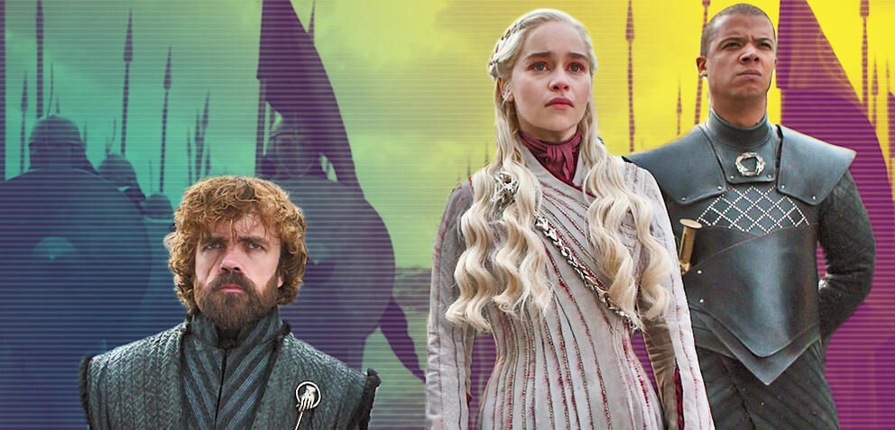 Game of Thrones mit Peter Dinklage, Emilia Clarke und Jacob Anderson