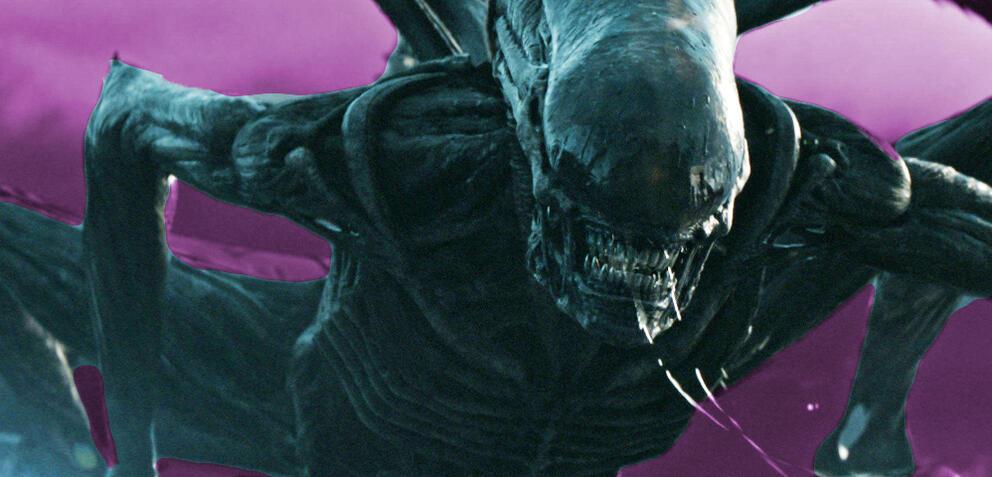 Ridley Scott am Set von Alien: Covenant