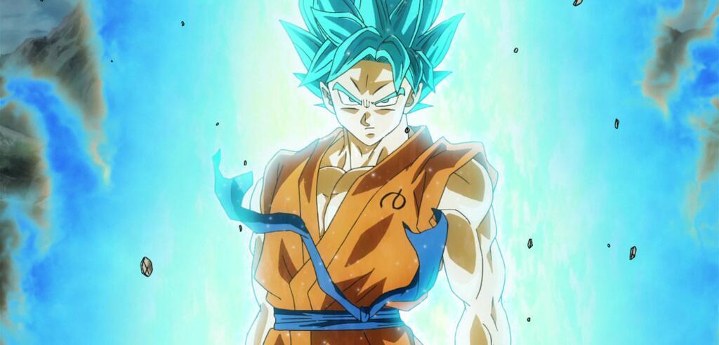 Son-Goku als Super Saiyajin Gott Super Saiyajin