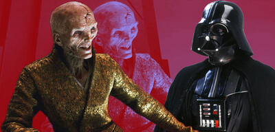 Snoke und Darth Vader