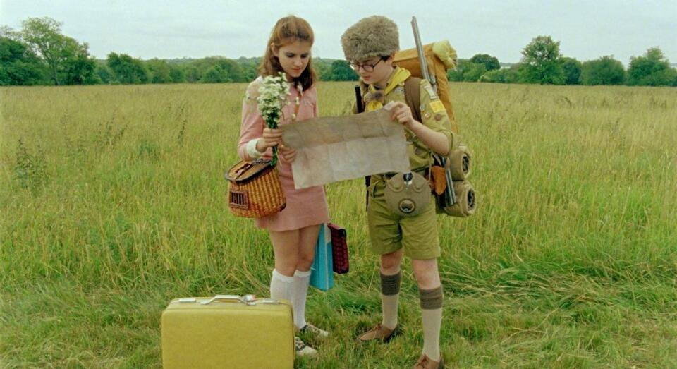 Moonrise Kingdom mit Kara Hayward und Jared Gilman