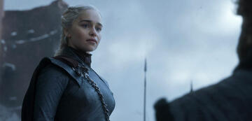 Emilia Clarke als Daenerys bei ihrer großen Ansprache.
