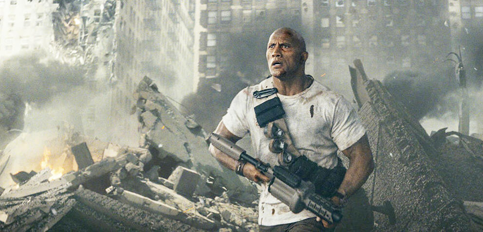 Dwayne Johnson in Rampage