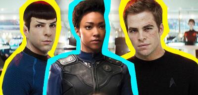 Spock, Michael Burnham und Kirk aus dem Star Trek-Universum