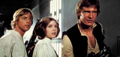 So viel Star Wars!Luke, Leia und Han können es kaum glauben.