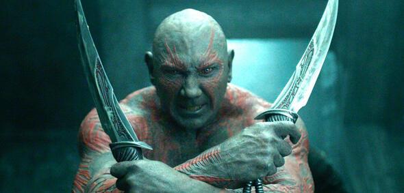 Dave Bautista als Drax:Schnipp schnapp - Haare ab!