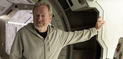 Ridley Scott am Set von Der Marsianer