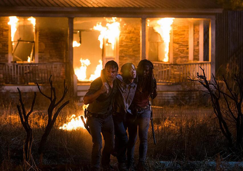 The Walking Dead - Staffel 8, The Walking Dead - Staffel 8 Episode 9 mit Andrew Lincoln und Chandler Riggs
