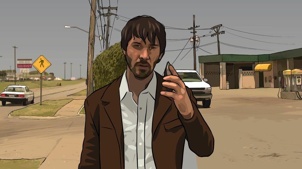Keanu Reeves in A Scanner Darkly