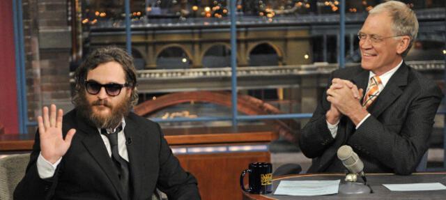 Joaquin Phoenix bei Letterman