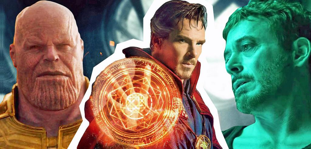 Thanos, Doctor Strange, Tony Stark