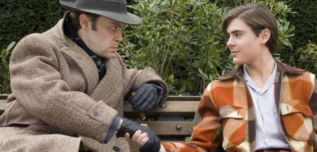 Christian McKay (l) und Zac Efron (r) in Ich und Orson Welles