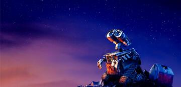 Wall-E betrachtet die Sterne