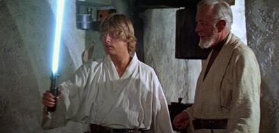 Luke Skywalker mit Lichtschwert