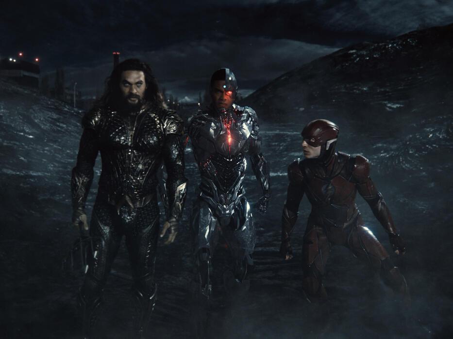 Zack Snyder's Justice League mit Jason Momoa und Ezra Miller