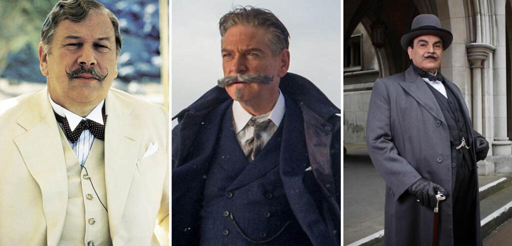 Peter Ustinov, Kenneth Branagh und David Suchet als Hercule Poirot