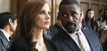 Molly's Game: Jessica Chastain & Indris Elba