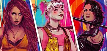 Black Canary, Harley Quinn und Huntress (v.l.)
