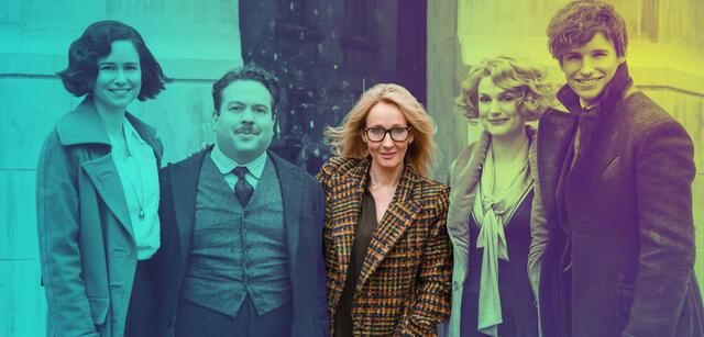 J.K. Rowling und der Cast von Phantastische Tierwesen und wo sie zu finden sind