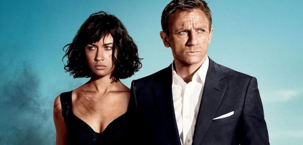 Olga Kurylenko und Daniel Craig inJames Bond 007 - Ein Quantum Trost