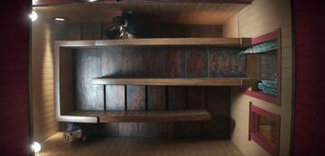 Verschachtelte Treppen im Winchester-Film-Haus