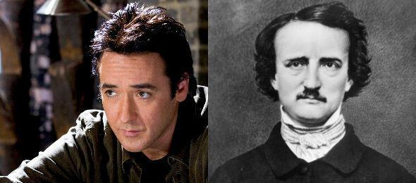 John Cusack (l), Edgar Allan Poe (r)