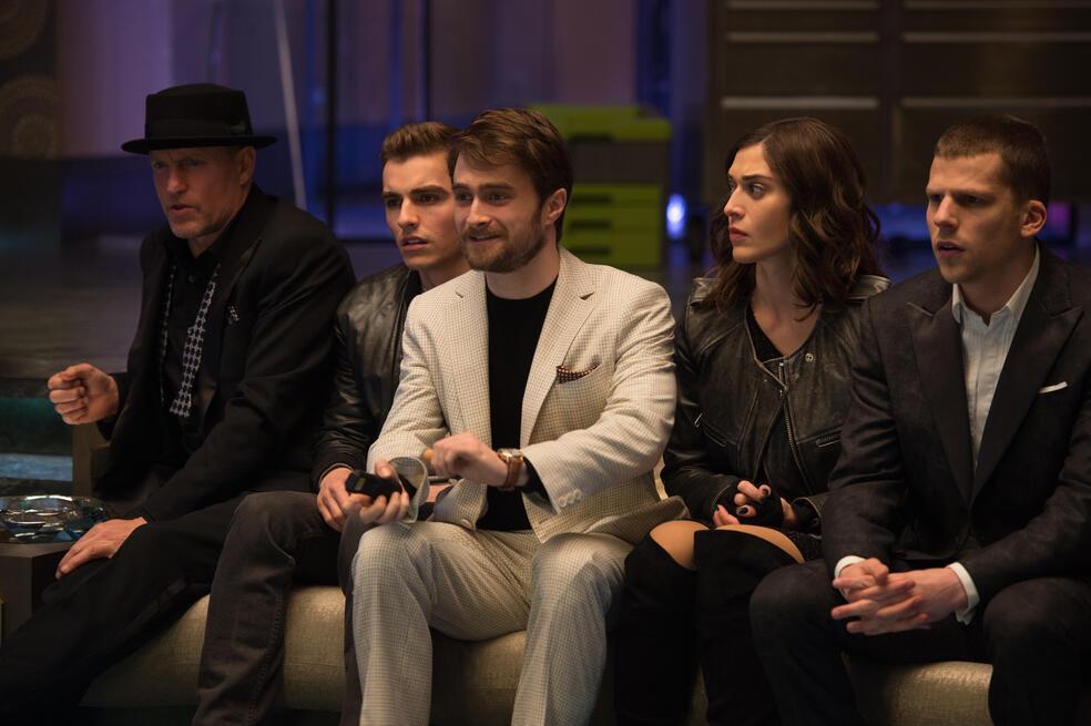 Die Unfassbaren 2 mit Woody Harrelson, Jesse Eisenberg, Daniel Radcliffe, Dave Franco und Lizzy Caplan