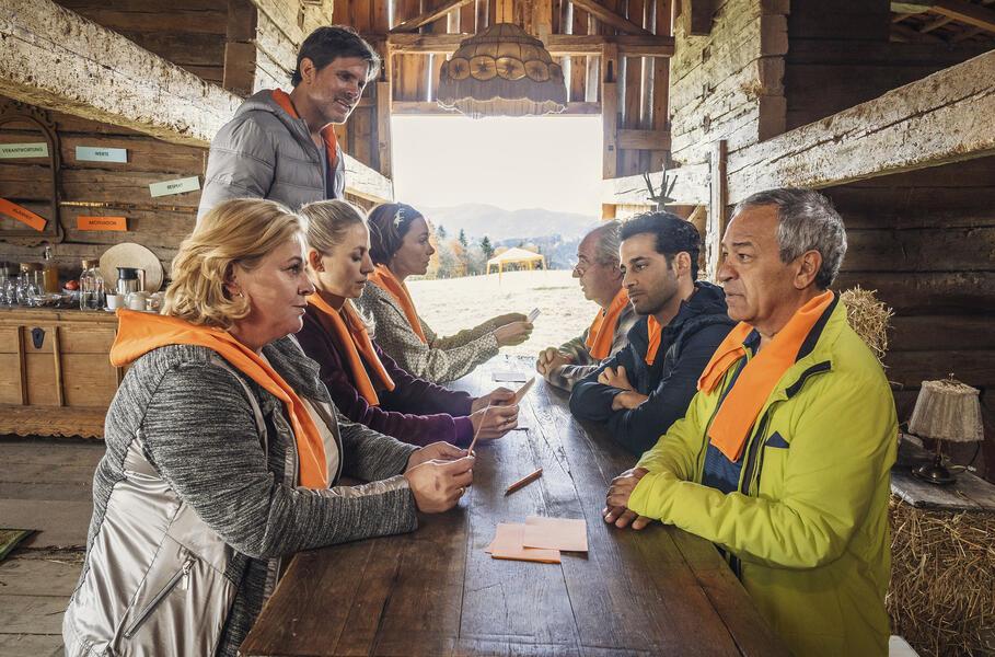 Zimmer mit Stall - Teamgeist mit Aglaia Szyszkowitz, Friedrich von Thun, Steffen Groth, Tayfun Bademsoy, Petra Kleinert, Annika Blendl und Karim Günes