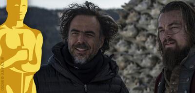Alejandro González Iñárritu beim Dreh zu The Revenant - Der Rückkehrer