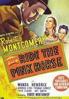 Reite auf dem rosa Pferd