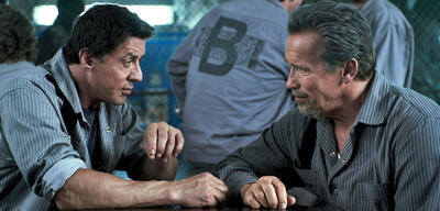 Sylvester Stallone & Arnold Schwarzenegger in Escape Plan