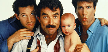 Bild zu:  Ted Danson, Tom Selleck und Steve Guttenberg 1987 in Three Men and a Baby