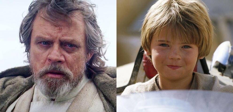 Mark Hamill & Jake Lloyd in Star Wars