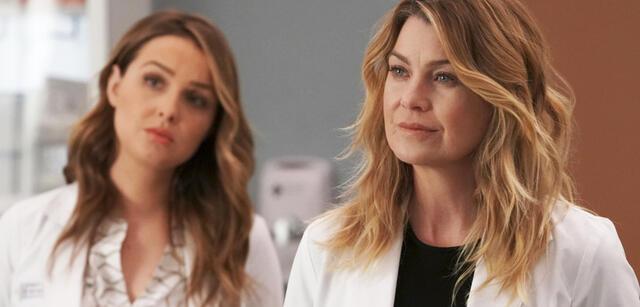 Grey's Anatomy, Staffel 14: Jo Wilson (Camilla Luddington) & Meredith Grey (Ellen Pompeo)